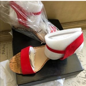 Size 11 red wedges